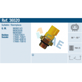 TERMOSWITCH GM, SUZUKI SWIFT,(BS506A), 98º-93º