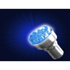 AMPOLLETA RACIMO 12 LED, 12V (BAY15d), AZUL