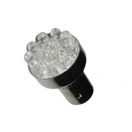 AMPOLLETA ESTROBOSCOPICA 12 LED,12V(BA15s) AZUL