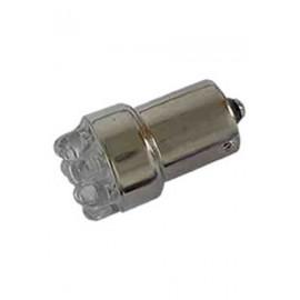 AMPOLLETA GLOBO 8 LED, 12V (BA15s), AMBAR