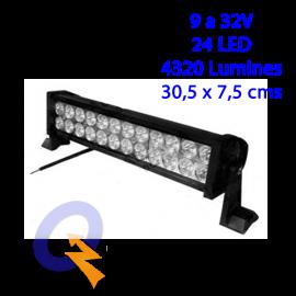 BARRA LED 12'(30,5 x 7,5cms),9-32V,24LED,4320L,L/E