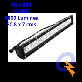 BARRA LED 20'(50.8 x 7cm) 10-30V,12LED,4800L,L/DIR
