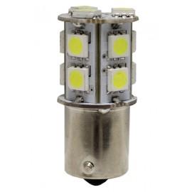 AMPOLLETA 24V 13 LED, BA15S (1C/PP), AMBAR