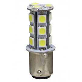 AMPOLLETA LED 24V, 13 LED, BAY15D, (2C/PD), BLANCA