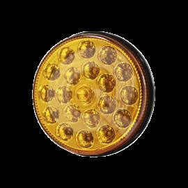 FAROL BIVOLTAJE 5', 21 LED, REPUESTO RANDON, AMBAR