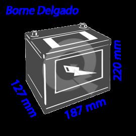 BATERIA BESTE 35A (+D) 350CCA 187x127x220,DELGADO