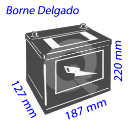 BATERIA BESTE 35A (+I) 350CCA 187x127x220,DELGADO