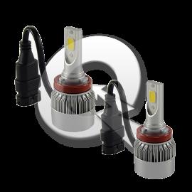 KIT LED H8, H11, H16, 9-32V, 6000K, 3800Lm
