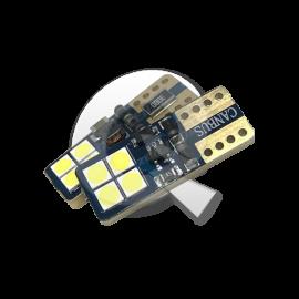 AMPOLLETA BIVOLTAJE T10, 8 LED, 3W, BLANCA