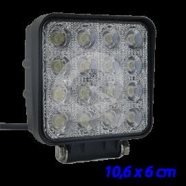 FAENERO LED CUADRADO 10-28V, 48W,16 LED, 3000Lm
