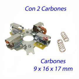 PORTA CARBON ARRANQUE BOSCH 24V, 2 CARBONES