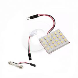 PLACA LUZ INTERIOR DE TECHO 12V, 24 LED, BLANCA