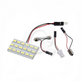 PLACA LUZ INTERIOR DE TECHO 12V 18 LED, BLANCA