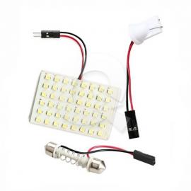 PLACA LUZ INTERIOR DE TECHO 12V, 48 LED, BLANCA