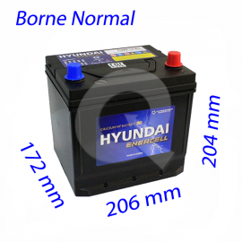 BATERIA HYUNDAI 50A (+D) 450CCA, 206x172x204