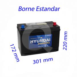 BATERIA HYUNDAI 90A (+D)(750 CCA),301x172x220,