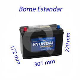 BATERIA HYUNDAI 90A (+I)(750 CCA),301x172x220